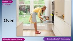 English Vocabulary Lesson 73 – Kitchen Vocabulary (English Vocabulary for a Kitchen)  In this English lesson you'll learn English words and phrases for a kitchen - stove, control panel, burner, range hood, sink, faucet and oven.