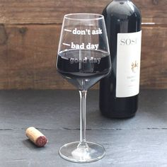 personalised wine glass by becky broome | notonthehighstreet.com