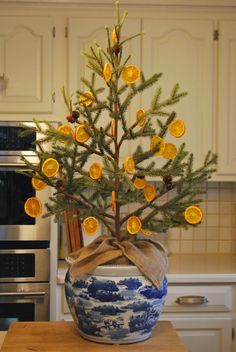 Instructions for Dried Orange Slice Ornaments