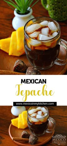 Tepache is like a light and sweet pineapple fermented drink. Preparing Tapache │Tepache is an extremely delicious and refreshing drink that is easy to prepare in your kitchen with pineapple peel and other ingredients. Mexican Drinks, Mexican Food Recipes, Vegan Recipes, Cooking Recipes, Mexican Desserts, Filipino Desserts, Mexican Cooking, Top Recipes, Cooking Tips