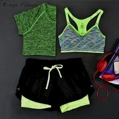 Sport Type: YogaGender: WomenSleeve Length(cm): ShortBrand Name: Evage PitayaPattern Type: StripedFit: Fits true to size, take your normal sizeFeature: Eco-Frie
