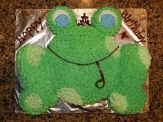 Hoppy Birthday Frog Cake