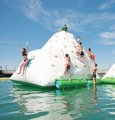 Inflatable Climbing Wall and Water Slides