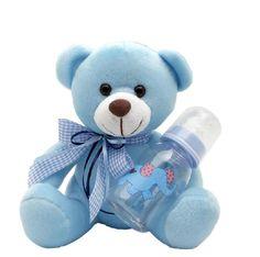 Teddy bear for baby in blue color #soft #teddy_bear #birthday #baby #blue