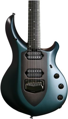 John Petrucci Music Man Majesty-6-string Solidbody Electric Guitar with Basswood Body, Mahogany Neck, Ebony Fingerboard, 2 Humbucking Pickups, and Tremolo with Piezo Pickup - Arctic Dream