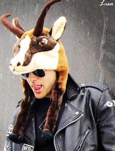 Am I the only one that sees the irony in Jared Leto wearing a goat hat?