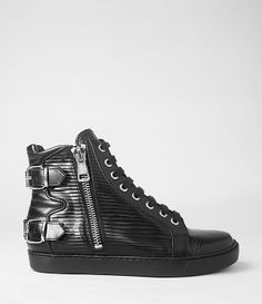 Womens Keiko Sneaker (Black) | ALLSAINTS.com