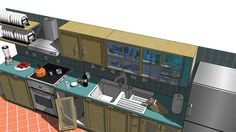 Large preview of 3D Model of Cucina completa