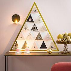 Ce kit DIY vous permettra d fabriquer vous-même votre calendrier de l'Avent tout doré, Cultura