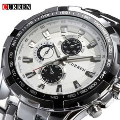 Brand Luxury full stainless steel Watch Men Business Casual quartz Watches Military Wristwatch waterproof Relogio New SALE //Price: $23.98 & FREE Shipping //