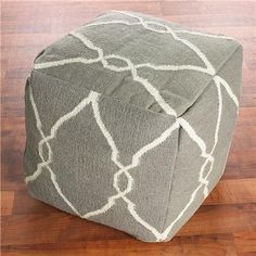 kids size poufs for office- would be great with navy ikat skirted kids table