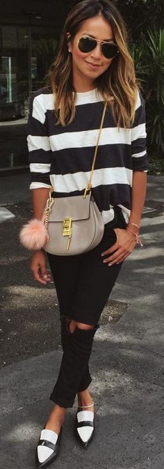 #sincerelyjules #spring #summer #besties | Stripes + Black and White