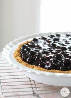 Blueberry Cream Pie from @Michael Wurm, Jr. | inspiredbycharm.com