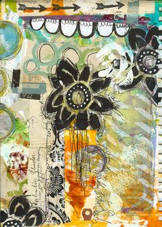 """Every Life Has a Story!"" - {Roben-Marie Smith} - Art Journaling with the Gelli Plate..."