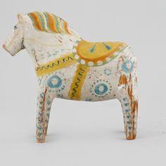 Swedish DALA HORSE, folk art 19th century -- DALAHÄST, Sverige, allmoge…