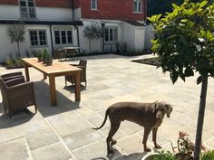 Beautiful use of Westminster Stone Cotswold Manor Flagstones in this extensive garden renovation project. Garden Paving, Garden Stones, Visit Uk, Formal Gardens, Paving Stones, Flagstone, Stone Flooring, Westminster, Contemporary Style