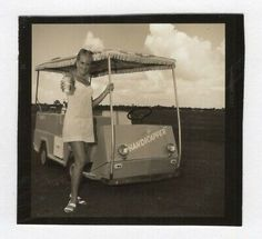 Vintage Photo Sexy Young Woman Golf Cart 1960's Feb19 C | eBay