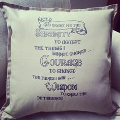 God grant me to accept the things I cannot change....Beige throw cushion <3  https://twitter.com/PhonicDesignsTs