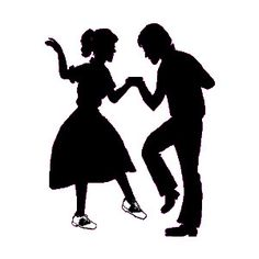 Idea for those under Tell your parents that you saw them dancing on Dick Clark's American Bandstand 50s Dance, Swing Dancing, Ballroom Dancing, Dance Silhouette, Silhouette Clip Art, Dance Party Decorations, Rock And Roll, Dancing Clipart, Fifties Party