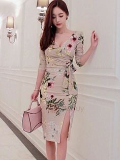 Tidebuy.com Offers High Quality Chic Floral Imprint Long Sleeve Slim Bodycon Dress, We have more styles for Bodycon Dresses #bodycondresslongsleeve
