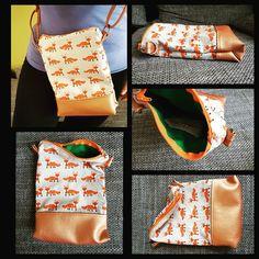 Tasche mit Kunstleder und Fuchs - selbst genäht / selfmade Tasche nähen