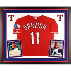 Yu Darvish Texas Rangers Fanatics Authentic Deluxe Framed Autographed Red Authentic Jersey - $1449.99