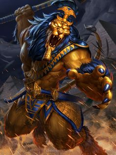 SMITE - Anhur Gold by ChrisBjors.deviantart.com on @DeviantArt