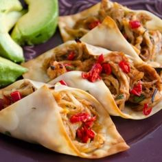 use wontons instead of taco shells for a snack size but filling meal