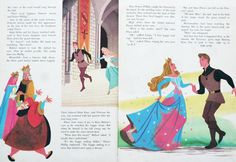 Vintage Disney illustrations.