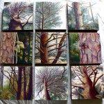 Tree Series- Oil Pastel on Canvas
