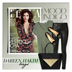 """""""DAREEN HAKIM - SHOP"""" by monmondefou ❤ liked on Polyvore featuring ANNA, Yves Saint Laurent, Charlotte Olympia and dareenhakim"""