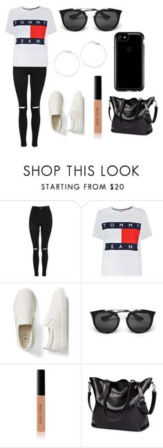 """Untitled #362"" by fashion-with-dudette on Polyvore featuring Topshop, Tommy Hilfiger, Gap, Prada, Bobbi Brown Cosmetics and Speck"