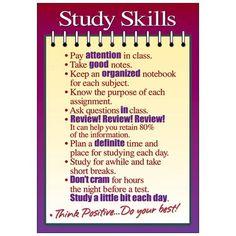 Trend Enterprises Poster Study Skills Large Chart (Set of Singing Lessons, Singing Tips, Notebook Organization, School Organization, Nclex, Study Skills, Study Tips, Study Habits, Study Methods