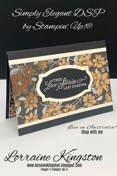 Simply Elegant DSP by Stampin' Up!® | Lorraine Kingston Wedding Aniversary, Specialty Paper, Fun Fold Cards, Forever Living Products, Stamping Up Cards, Fall Cards, Wow Products, Anniversary Cards, Hello Everyone