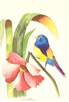 Painted bunting bird gifts for christmas