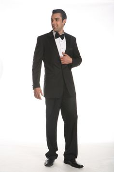 Impress your date. Look smart and dashing for #ValentinesDay with our Ferrecci two-button black #Tuxedo!