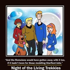 Bahaha! except Velma should be in blue and Daphne and Shaggy in red :-)