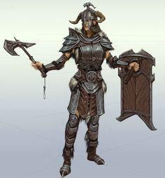 The Elder Scrolls V: Skyrim Art & Pictures,  Steel Armor - Female