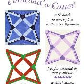 Contessa's Canoe (Paper Pieced) - via @Craftsy