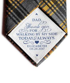 Wedding Tie Patch Consider these unique finds for parents a small token of your appreciation for the wedding day and all those years of love and support Thoughtful Wedding Gifts, Wedding Gifts For Parents, Wedding Tags, Cute Wedding Ideas, Gifts For Wedding Party, Wedding Trends, Gifts For Dad, Perfect Wedding, Wedding Favors