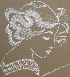 podvinky k paličkování - Hledat Googlem Bobbin Lace Patterns, Crochet Patterns, Lacemaking, Lace Heart, Lace Jewelry, Crochet Diagram, String Art, Hobbies And Crafts, Lace Detail