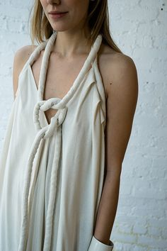LONG INFINITE ROPE DRESS, IVORY NOIL - SOLD OUT