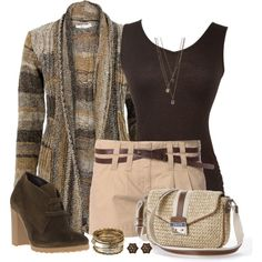 """""""Shorts, Cardigan and Tank 2"""" by daiscat on Polyvore"""