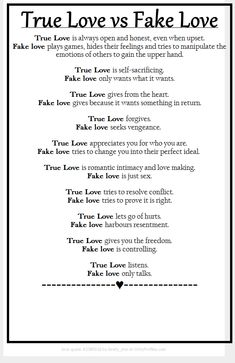 """True Love vs Fake """"Love"""" …Emotional Vampires are NOT capable of True Love. They truly love Attention, Manipulation, Destroying others, Power and Control though! #RelationshipAdvice"""