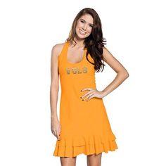 Tennessee Volunteers Women's Orange Ruffle Racerback Dress
