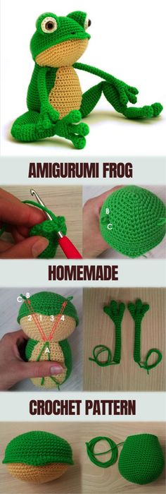 How to Make Amigurumi Frog - Amigurumi Frog Tutorial #amigurumi