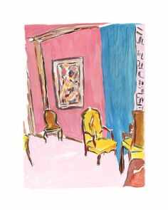 Bob Dylan Three Chairs Drawn Blank Collection Three Chairs,Washington Green – Trident Galleries