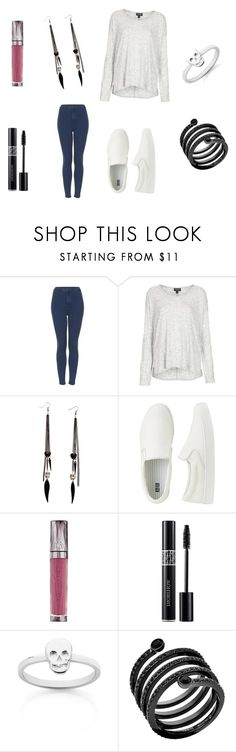 """SFKD"" by rachelita555 ❤ liked on Polyvore featuring Topshop, Uniqlo, Urban Decay, Christian Dior, Meadowlark and Michael Kors"