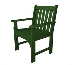 Polywood GNB24GR Vineyard Garden Arm Chair in Green