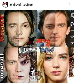 Mutants and their kids---Logan and Laura. Charles and David. Erik and Peter. Raven and Kurt.